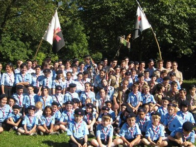 Rassemblement de 1500 routiers de l'Association des Guides et Scouts d'Europe à Vézelay